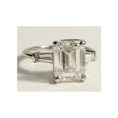 Angelina Jolie Engagement Ring Emerald Cut 19