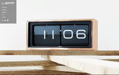This classic LEFF Copper Brick Clock is an essential piece for design lovers. - Designed by Erwin Termatt - LEFF Copper Brick Clock has a retro feel - 24 Hour Digital Flip Display - Brushed copper plated case Wall Desk, Desk Clock, Flip Clock, Alarm Clock, Amsterdam Today, Digital Wall, Brick Wall, How To Look Pretty, Home Accessories