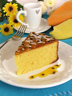 Receita de bolo de maracujá e mel