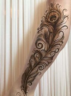 Someone can easily put arabic mehndi design in less time only by applying broad lines and vacant patterns.In addition , Arabic mehndi designs is the ultimate way for people who seeks a fast art done in less time. Peacock Mehndi Designs, Latest Arabic Mehndi Designs, Floral Henna Designs, Henna Tattoo Designs Simple, Mehndi Designs Book, Latest Bridal Mehndi Designs, Modern Mehndi Designs, Mehndi Design Pictures, Mehndi Designs For Beginners