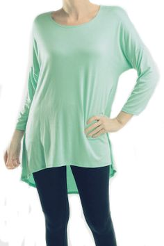Fabric: 95% Rayon 5% Spandex Made In: MADE IN USA http://mayfairapparel.storenvy.com/products/5584756-mint-tunic