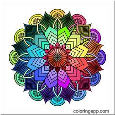 Mandala Art Lesson, Mandala Drawing, Mandala Canvas, Tangle Art, Coloring Apps, Mandala Coloring, Dot Painting, Flower Photos, Mandala Design