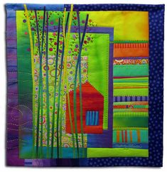 Treehouse #7 by Melody Johnson Quilts, via Flickr