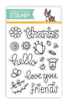 Simon Says Clear Stamps HELLO FRIEND sss101557 STAMPtember at Simon Says STAMP! 6.99