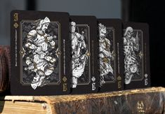 Nicolai Aarøe is raising funds for Dominus Playing Cards on Kickstarter! decks with metallic ink and gold foiled, embossed tucks. II in the 'Light vs. Darkness' series by Nicolai Aarøe. Cartomancy, Tarot Cards, 3d Printing, Knights, Playing Cards, Darkness, Card Designs, Decks, Poker