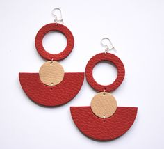 leather earrings di quwy su Etsy