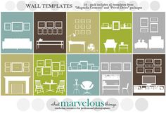 wall photo collage layout tips and ideas for hanging pictures and gallery wall regarding picture wall collage template photo frame wall collage template Picture Frame Layout, Picture Wall, Picture Frames, Photo Wall, Picture Collages, Diy Interior, Interior Design, Wall Collage, Frames On Wall