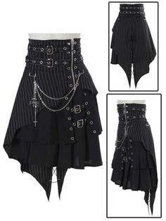 Bodyline Punk skirt with spider chain