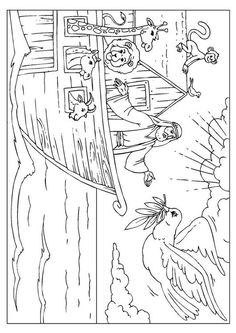 Coloring page Noah's Ark - coloring picture Noah's Ark. Free coloring sheets to print and download. Images for schools and education - teaching materials. Img 25955.