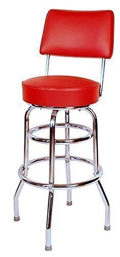 Special Offers - Double Ring Commercial 30 Inch Bar Stool with Back  Red (0-1958RED) - In stock & Free Shipping. You can save more money! Check It (June 22 2016 at 11:07PM) >> http://counterstoolsusa.net/double-ring-commercial-30-inch-bar-stool-with-back-red-0-1958red/