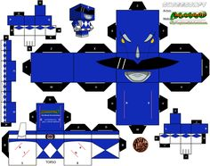 Blue Power Ranger Cubee