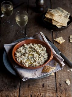 baked ricotta with basil, chilli and lemon