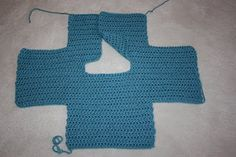 1 piece crochet baby sweater