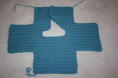 1 piece crochet baby sweater