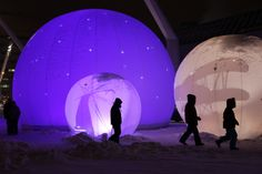 Art Installations, Light Installation, Montreal, Polar Fleece, Art Installation, Installation Art