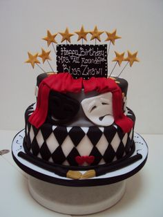 Make me a theatre cake for my birthday, and I'll love you forever! *cough*cough* it's November :) Birthday Sheet Cakes, 16 Birthday Cake, Happy Birthday, Big Cakes, Cute Cakes, Beautiful Cakes, Amazing Cakes, Fondant Cakes, Cupcake Cakes