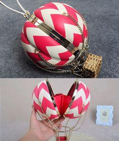 Fancy | Hot Air Balloon Leather Handbag Bag