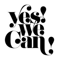 Retro lettering: Yes We Can! Typography Love, Typo Logo, Typography Letters, Typography Poster, Graphic Design Typography, Branding Design, Poster Fonts, Posters, Alphabet Letters