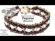 In this video tutorial, Allie teaches you how to make her Papyrus Bracelet design. Materials are from www.potomacbeads.com Diy Beaded Bracelets, Beaded Necklace Patterns, Handmade Bracelets, Beaded Earrings, Jewelry Making Tutorials, Beading Tutorials, Bead Crochet Patterns, Art Patterns, Bracelets