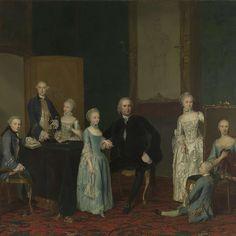 """Portrait of Pieter Cornelis Hasselaer, Adviser to the Dutch East India Company and Burgomaster of Amsterdam, with his Family,"" George van der Mijn, 1763; Rijksmuseum SK-A-1360"