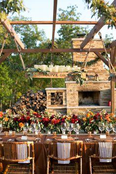lush fall reception tables | Heather Roth #wedding