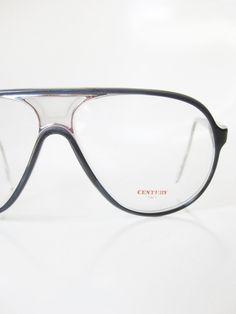 Vintage 1970s Aviator Glasses Eye Eyeglasses Mens Guys Sunglasses NOS New Old Stock Deadstock Black Silver Homme 70s Seventies Racing