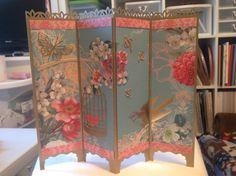 Folding Screen card uploaded by Pam Wilson Tri Fold Cards, Fancy Fold Cards, Folded Cards, Making Greeting Cards, Greeting Cards Handmade, Screen Cards, Asian Cards, Scrapbook Cards, Scrapbooking