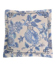 Look at this #zulilyfind! Blue Persiana Large Square Throw Pillow by Royal Heritage Home #zulilyfinds
