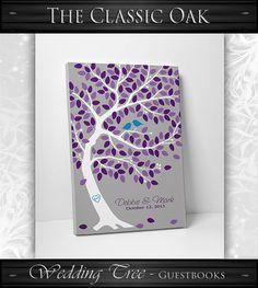 Custom Wedding Guest Book // Thumb Print by WeddingTreePrints, $30.00