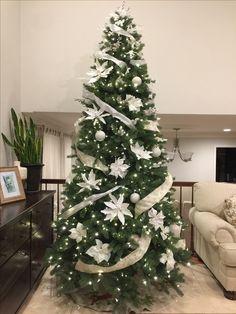 White Christmas Tree Decor Idea!