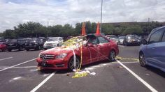 Parking Fails & More!: Someone went to town on this bad parker #parking #parkingfail #parkingsace