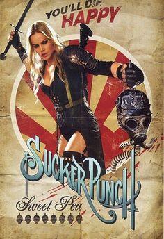 Propaganda-style poster for Sucker Punch: Abbie Cornish as Sweet Pea