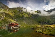 Lake house - Balea Lake - Fagaras Mountains - Romania For all my work, please check my website or FB page. Beautiful Homes, Beautiful Places, Amazing Places, Transylvania Romania, Famous Castles, Rooftop, The Good Place, Scenery, Around The Worlds