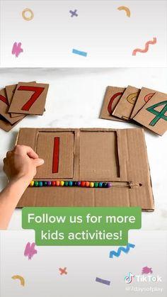 Creative Activities For Kids, Preschool Learning Activities, Math For Kids, Learning Tools, Educational Activities, Preschool Activities, Indoor Games For Kids, Kindergarten Readiness, Petite Section