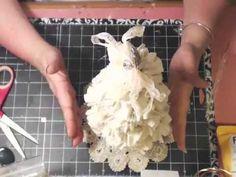 ▶ Shabby Chic Christmas Tree tutorial - YouTube