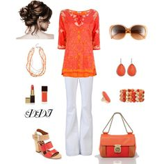 Coral and Orange, created by dawndayiannelli on Polyvore