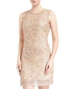 Multicolor Sequin & Beaded Dress by Romeo & Juliet Couture at Last Call by Neiman Marcus. 69.00