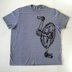 Men's tshirt  XXL  Total Crank black on grey Free by totalradness, $22.00