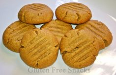 Celiac-Friendly, Gluten Free Peanut Butter Cookies. These babies are DELICIOUS and CHEWY! Individually wrapped 6pk.