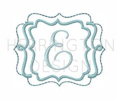 Embroidery Font Frame Applique Scroll Frame by HerringtonDesign