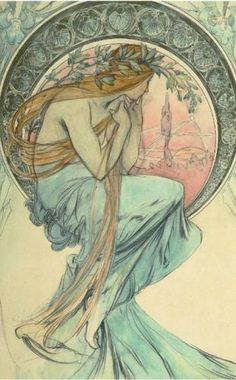 Alphonse Mucha - Muses serie - The Poetry