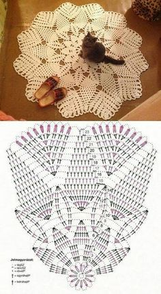 Breathtaking Crochet So You Can Comprehend Patterns Ideas. Stupefying Crochet So You Can Comprehend Patterns Ideas. Crochet Mat, Crochet Doily Diagram, Crochet Carpet, Crochet Mandala Pattern, Crochet Dollies, Crochet Books, Crochet Home, Crochet Flowers, Crochet Patterns