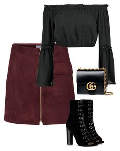 """""""Outfit #558"""" by naleland on Polyvore featuring moda, Barbara Bui, Boohoo i Gucci"""