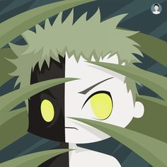 "Zetsu ""chibi"" #anime #art #digitalart #character #chibi #design #naruto #akatsuki"