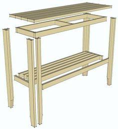 SMART BENK: Slik monterer du sammen bordet.