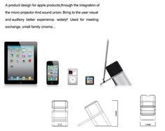 Tablet Projector Stands - iDelighted by Chen Nanyu is Compact and Convenient (GALLERY)