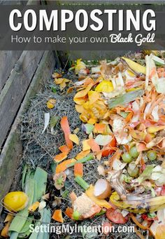 Gardening Compost Composting for Beginners - This post has information on composting for beginners - everything you need to know to get started today. Free printable included on what to compost as well
