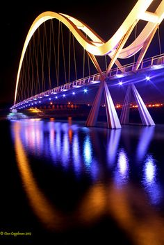 The Infinity Bridge, Stockton-on-Tees, England