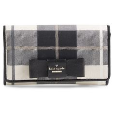 kate spade new york 'julia street - plaidtally' clutch (400 BAM) ❤ liked on Polyvore featuring bags, handbags, clutches, cherry liqueur multi, envelope clutch, kate spade purses, tartan handbag, kate spade clutches and kate spade handbag