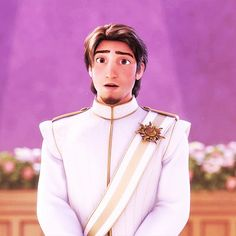 Eugene <3 ^^^^this is his face when he sees how beautiful she is in her wedding dress!!!! Love it!!!!!